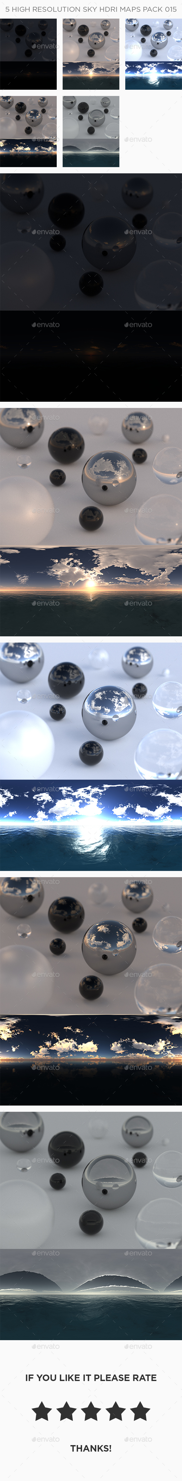 3DOcean 5 High Resolution Sky HDRi Maps Pack 015 21104341