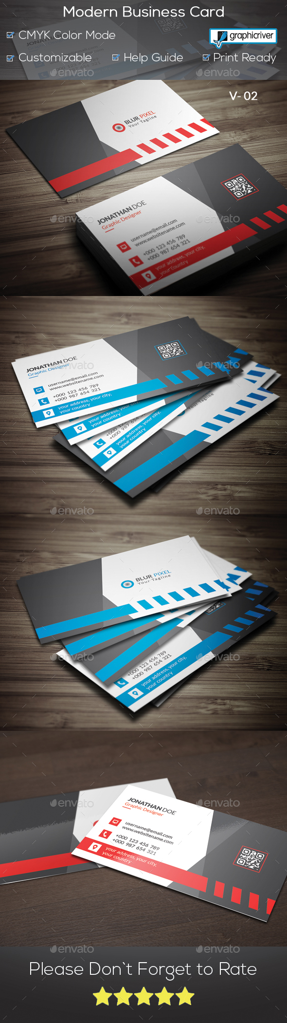 GraphicRiver Modern Business Card V.2 21098556