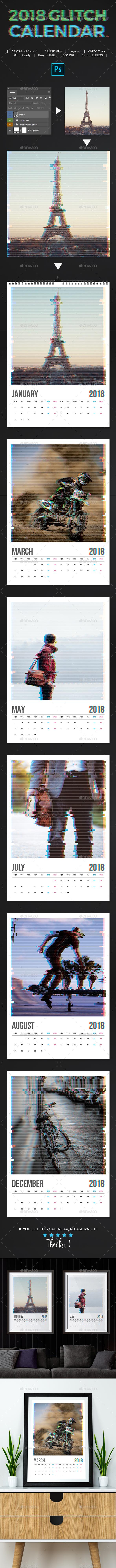 2018 Glitch Calendar - Calendars Stationery