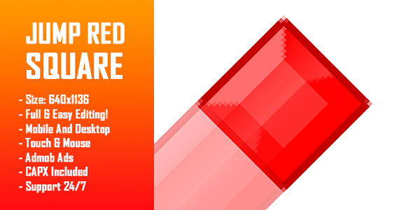 Download Source code              Jump Red Square - HTML5 Game + Mobile Version! (Construct-2 CAPX)            nulled nulled version