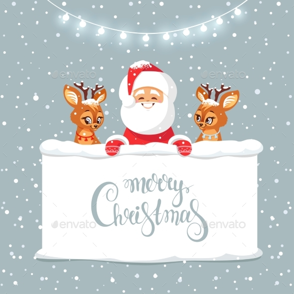 GraphicRiver Santa and Deer 21104958
