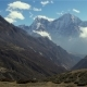 Panoramic View of Mountains in Himalayas, Nepal, on the Hiking Trail Leading To the Everest Base - VideoHive Item for Sale