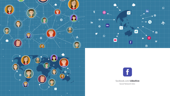 VideoHive Social Network Intro 21105023