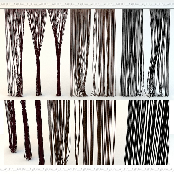 Curtains rope Kisea - 3DOcean Item for Sale