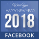2018 Happy New Year Facebook Timeline Cover Template