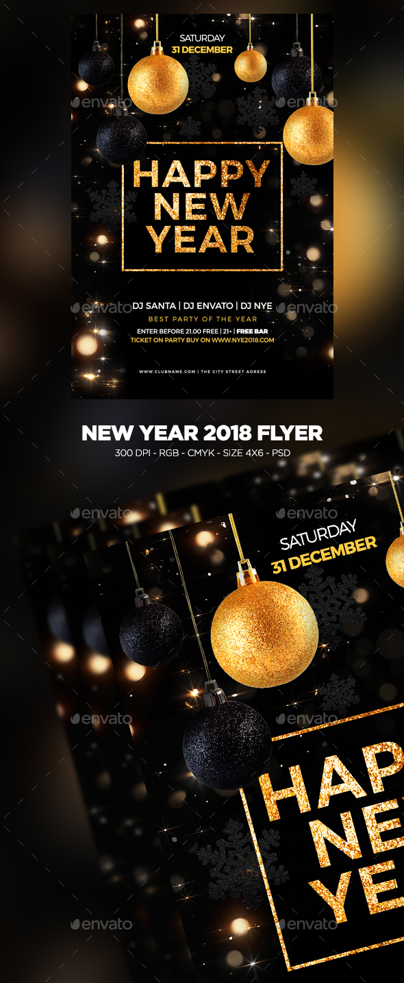 New Year 2018 Flyer - Clubs & Parties Events