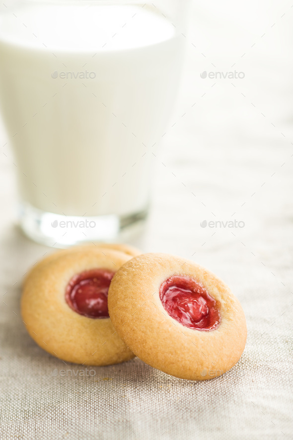 Sweet jelly cookies. - Stock Photo - Images