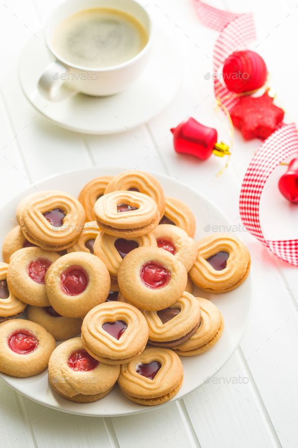 Xmas decoration and jelly cookies. - Stock Photo - Images