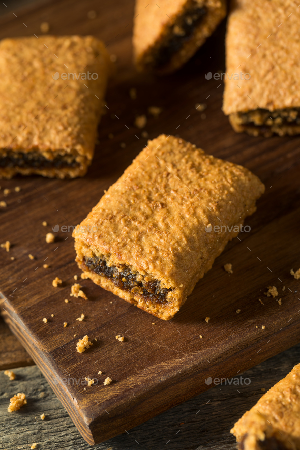 Healthy Homemade Fig Fruit Bars - Stock Photo - Images