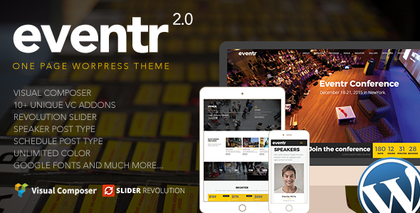 Eventr - One Page Event WordPress Theme - Events Entertainment