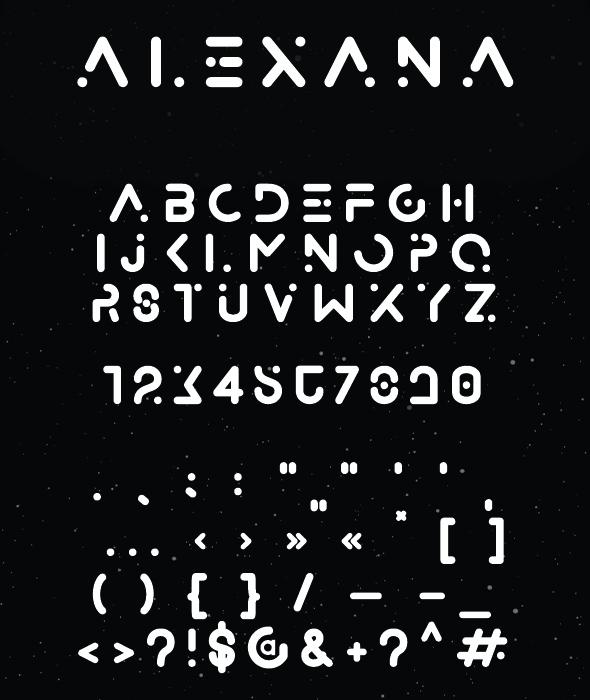 GraphicRiver Alexana Cosmic Font 21105571