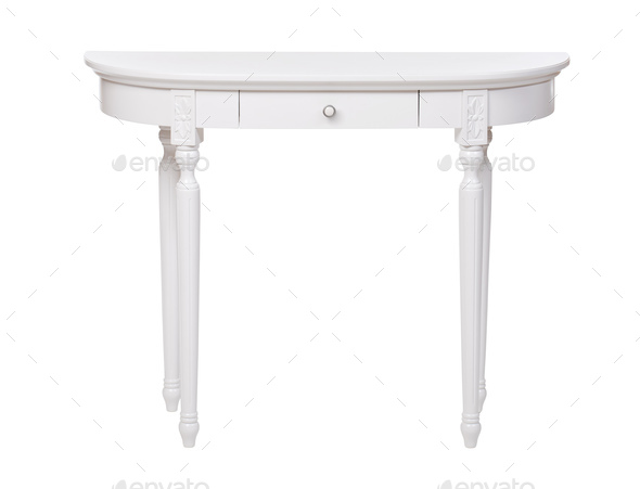 Elegant dressing table isolated over white - Stock Photo - Images