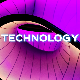 Technology Glitch Logo