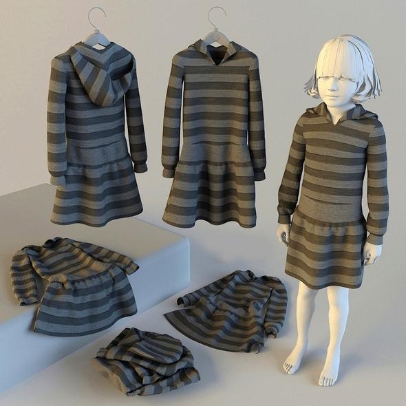 3DOcean Baby dress 21105686