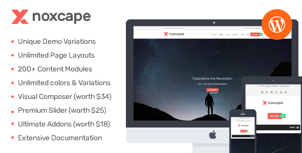 ThemeForest noXcape Modular WordPress Theme 20816698