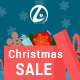 Christmas Sale banners with discount bag