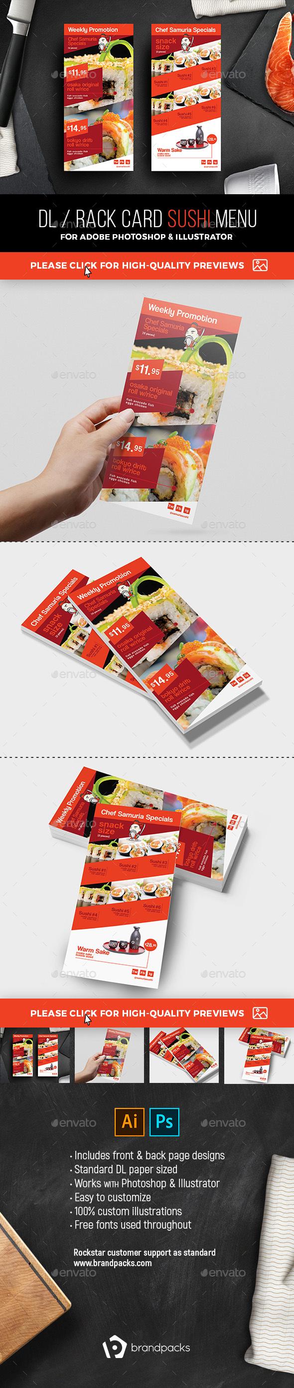 GraphicRiver DL Sushi Menu Template 21105969