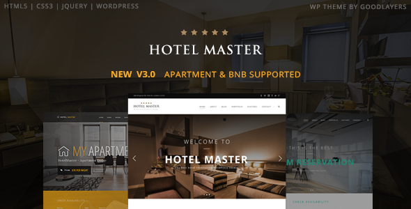 Hotel WordPress Theme | Hotel Master