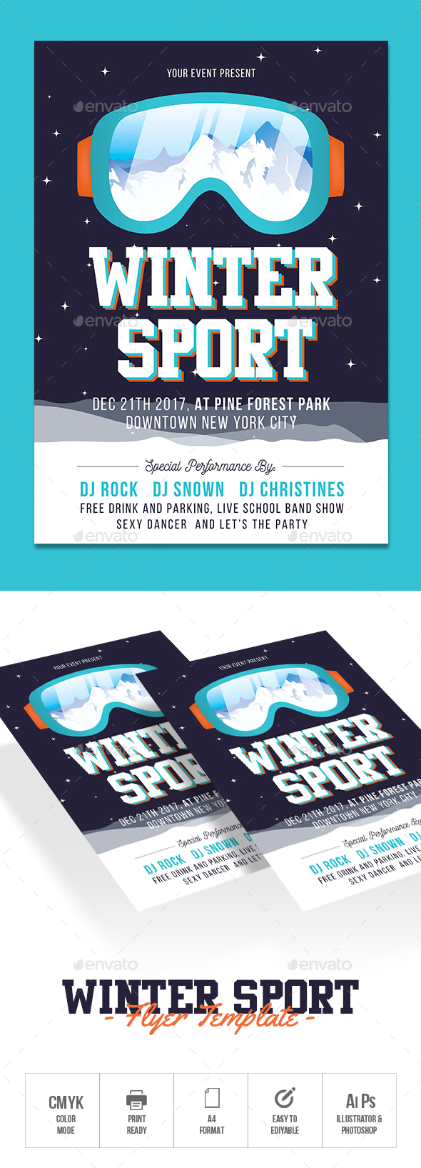 GraphicRiver Winter Sports Flyer 21106032