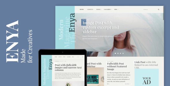 Download Enya - WordPress Theme for Creatives            nulled nulled version