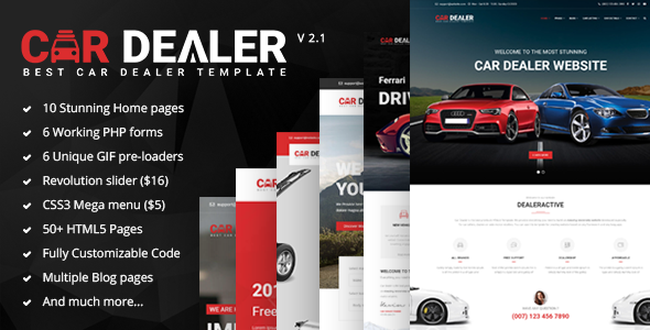 Car Dealer - The Best Car Dealer Automotive Responsive HTML5 Template - Business Corporate