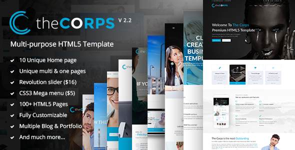 The Corps - Multi-Purpose HTML5 Template - Corporate Site Templates