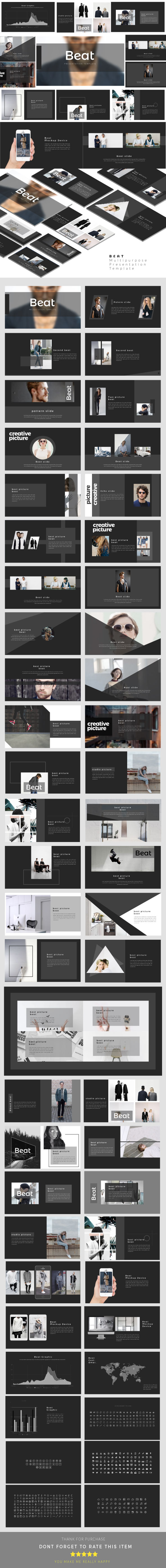 Beat - Multipurpose Presentation Templates - Business PowerPoint Templates