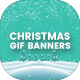 Animated GIF Merry Christmas Banners Ad - GraphicRiver Item for Sale