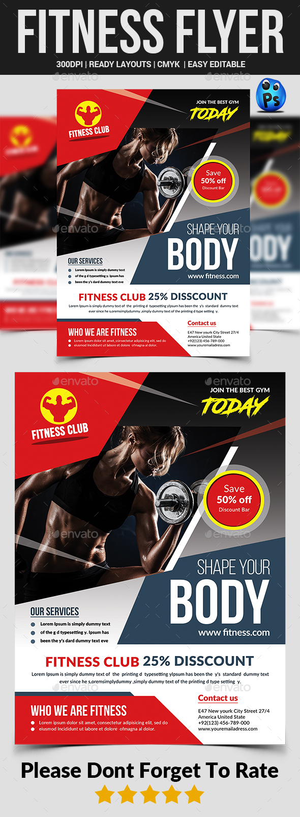 GraphicRiver Fitness Flyer 21106577