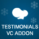Testimonials Addon For WPBakery Page Builder (Visual Composer)