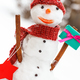 Snowman with gift for Christmas or Valentine - PhotoDune Item for Sale