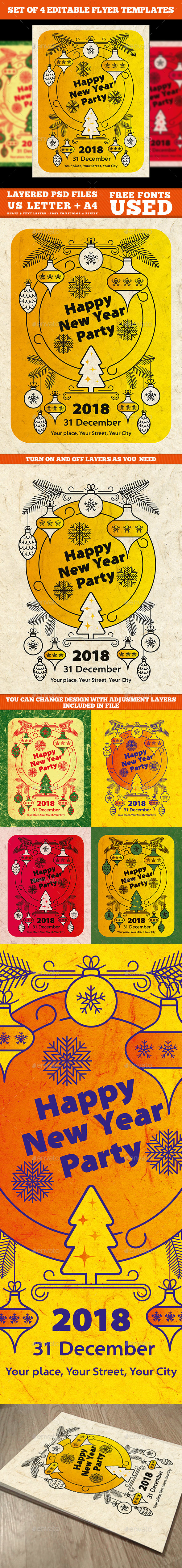 GraphicRiver New Year Flyer Template 21106980