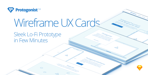ThemeForest Protogonist More Than 150 Wireframe UX Cards For Rapid Prototyping 21025890