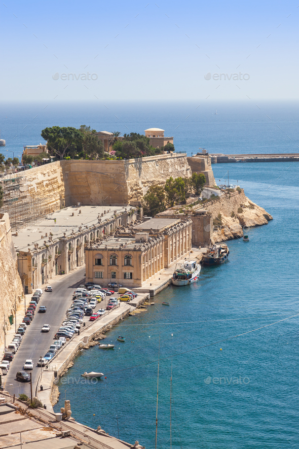 Old Harbour City of Valletta in Malta - Stock Photo - Images