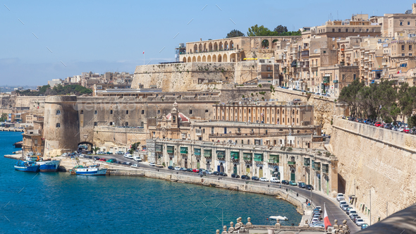 Old Buildings in Valletta - Stock Photo - Images