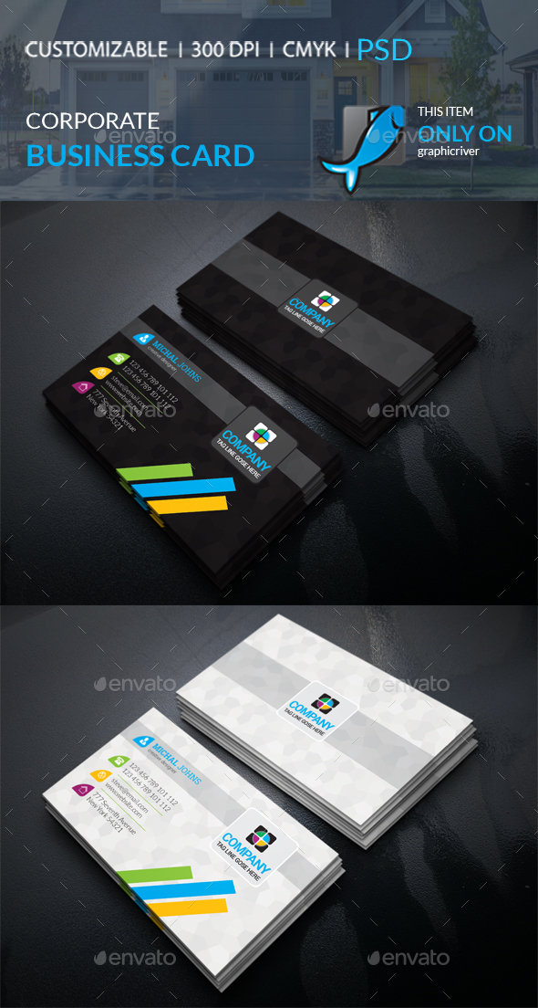 GraphicRiver Corporate Business Card 21107109