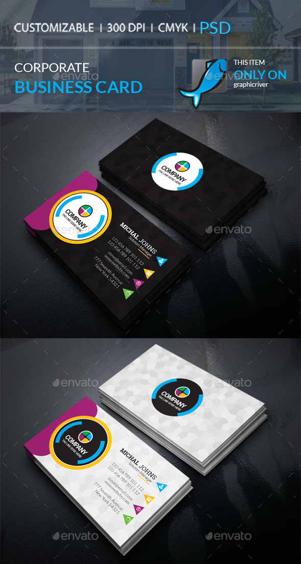 GraphicRiver Corporate Business Card 21107124