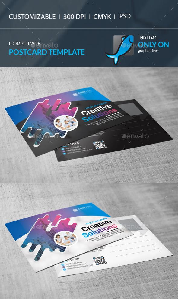 GraphicRiver Postcard Template 21107162