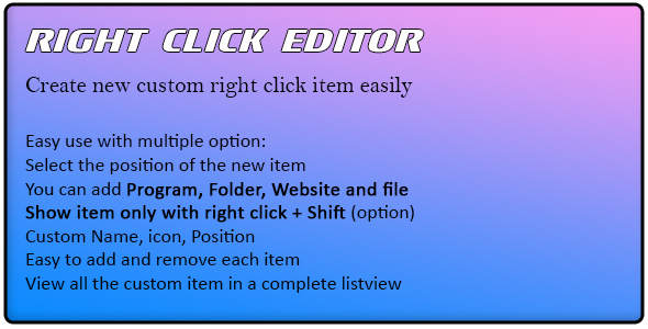 CodeCanyon Right Click Editor 21107244