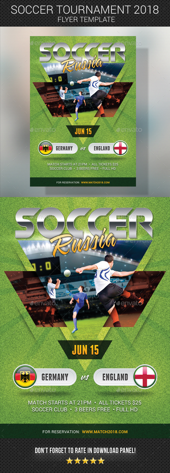 World Soccer Cup Russia 2018 Flyer 3 - Sports Events