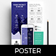 A4 Mobile App Poster Template - GraphicRiver Item for Sale
