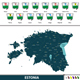 Map of Estonia - GraphicRiver Item for Sale