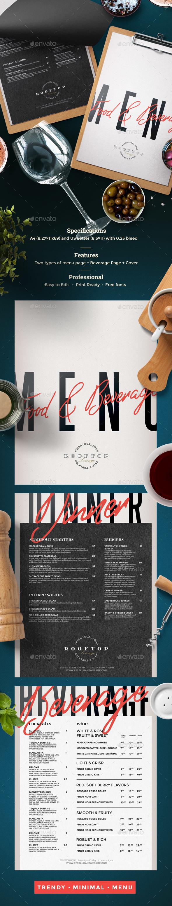GraphicRiver Restaurant Menu 21107299