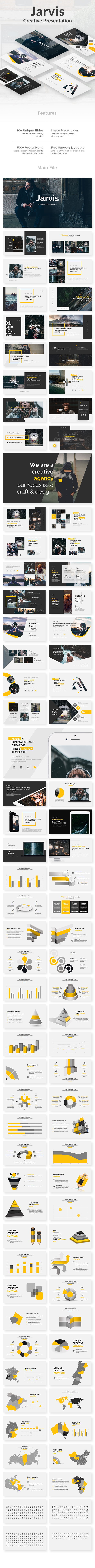 GraphicRiver Jarvis Creative Powerpoint Template 21107335