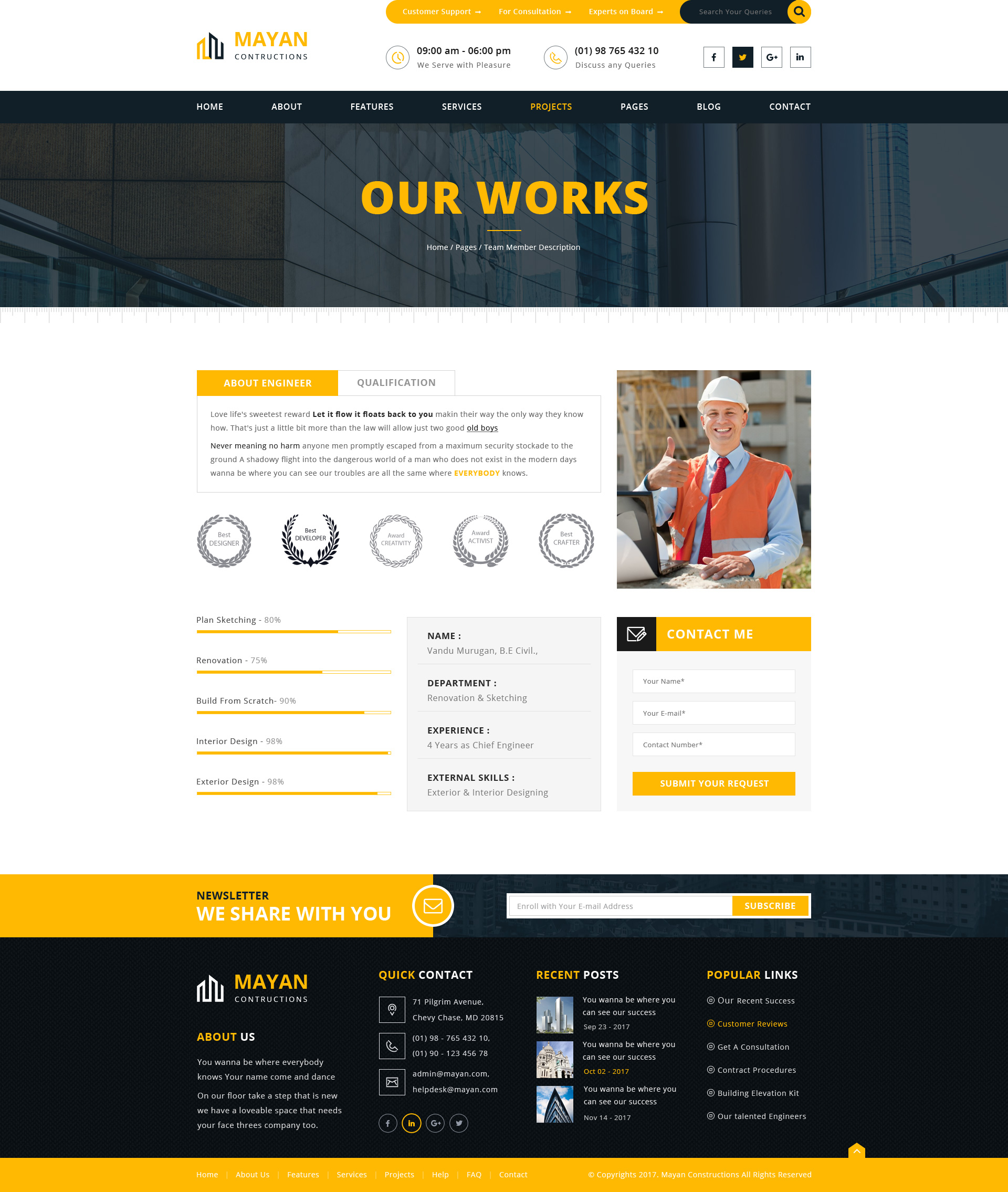 MAYAN Constructions - PSD web template by arrow_themes   ThemeForest