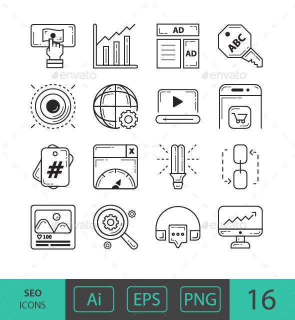 GraphicRiver SEO Icons 21107354