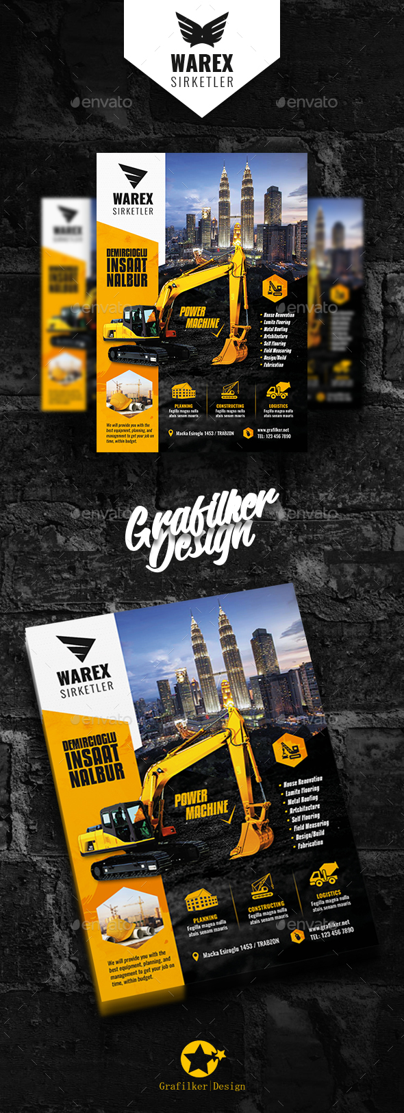 GraphicRiver Construction Flyer Templates 21107356