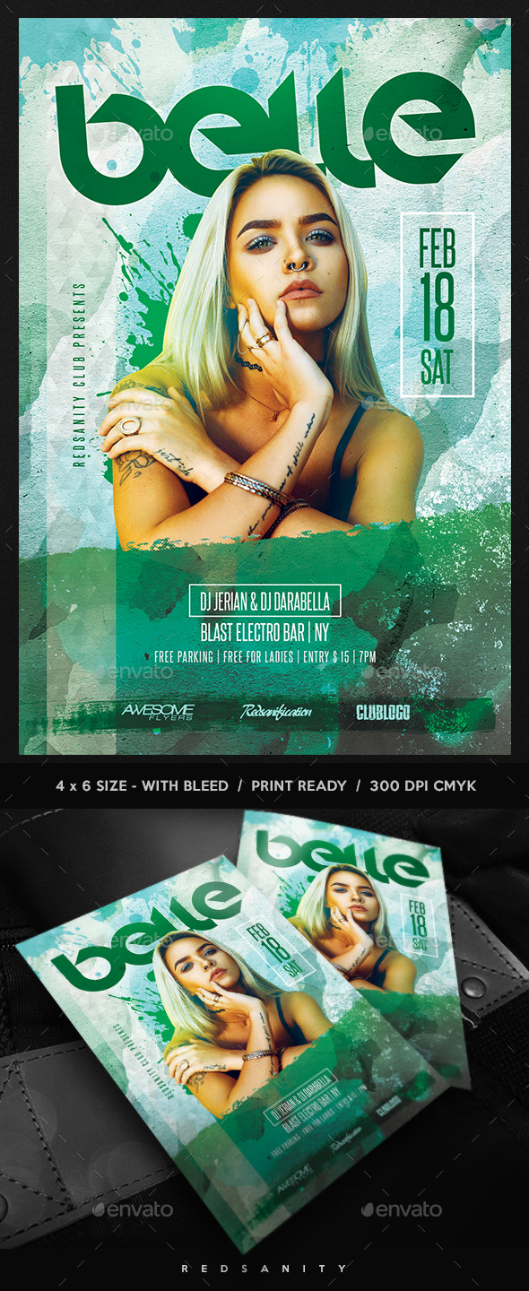 GraphicRiver Guest DJ Artist Flyer 21107735
