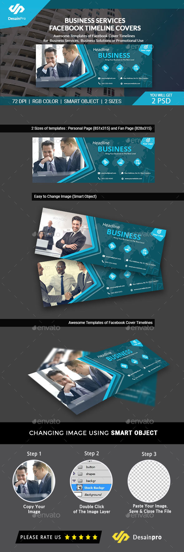 GraphicRiver Business Facebook Cover Timeline AR 21107760