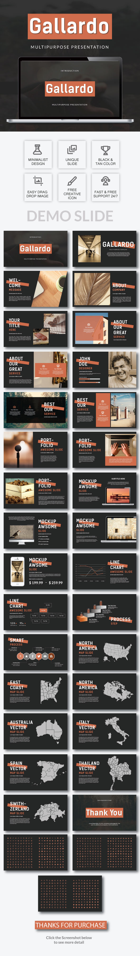 Gallardo - Multipurpose Presentation Template - PowerPoint Templates Presentation Templates